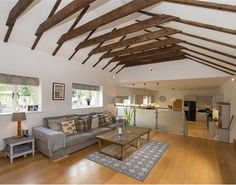 The owners of this #Yorkshirepropertyoftheweek have retained some of the original barn features, the #exposedbeams looks fantastic! http://www.richardgraftoninteriors.com/blog/blog/yorkshirepropertyoftheweek-a-barn-conversion-where-traditional-and-contemporary-live-perfectly-hand-in-hand/
