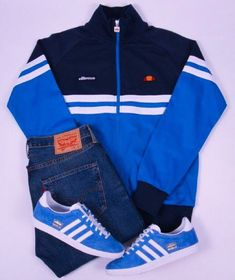 Away Days - adidas Gazelles and ellesse track top