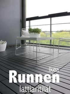 Ikea Runnen   Dark Grey, Straight Run (not Basket Weave)