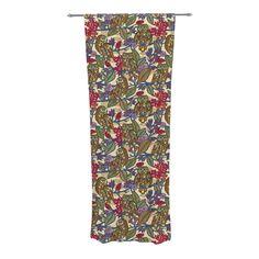 "Julia Grifol ""My Boobooks Owls"" Decorative Sheer Curtain"