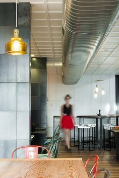 The perforated metal and experimental light fixtures of Top Paddock in Melbourne. | 31 Coffeeshops And Cafés You Wish You Lived In