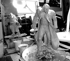 A work in progress. Super Sculpey Hellboy sculpture I've been working on for far too long. Much work still to be done.