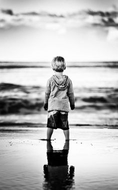 Black and White Photography - Little Boy by the Sea - Reflections by Nick Watts on 500px