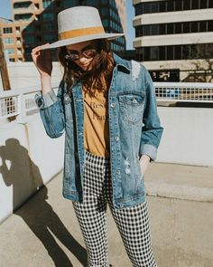 "95 Likes, 20 Comments - Katie and Lydia (@ohdarlingblog_) on Instagram: ""It's basically the weekend.  Sharing these fun plaid kick flare pants on the blog today (link in…"""