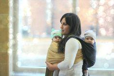 the sling diaries: love, emelia, evelyn and family babywearing beauty! #sakurabloom #twins