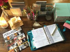 Monday at the office.  #inspired #office #officespace #mydesk #plan ##getthingsdone #charmedgtd #charmedlife #charmedlifeplanner #gysp #gyspermission #gyspermissionmag #work #edit #read #learn #do #getitdone #filofax #newcareer #workfromhome #love #lovemylife #livingthedream #girlboss #dream #dresmscometrue #xoxo by inspired_with_nanette_stein