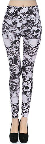 Lucky Girl LA - Grim Dark Heavy Metal Punk Rock 'n Roll Skull Print Leggings (One Size (S/M), Skulls) Lucky Girl http://smile.amazon.com/dp/B00UQ85F38/ref=cm_sw_r_pi_dp_z2Eawb0JD2HCX