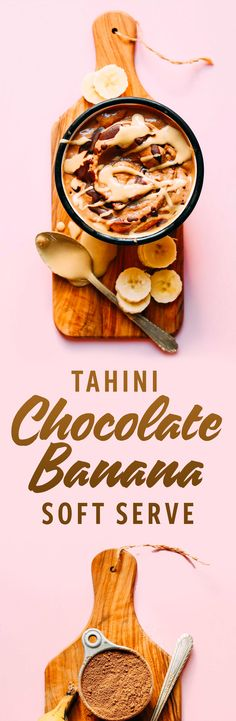 HEALTHY Chocolate Tahini Banana Soft Serve! 4 ingredients, naturally sweet, SO delicious!