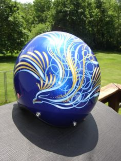 pinstriped helmet