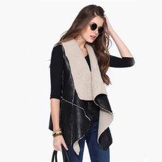 Sherpa vest New.  Super cute. Jackets & Coats Vests