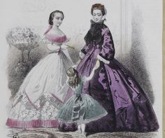 1862 fashion plate ball gown from http://bibliothequedesartsdecoratifs.com