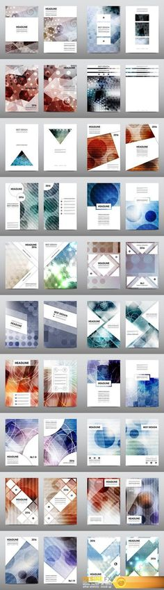 """Magazine booklet cover, brochure layout template & abstract flyer design 4 - 20xEPS Vector Stock <a href=""""http://www.desirefx.me/magazine-booklet-cover-brochure-layout-template-abstract-flyer-design-4-20xeps-vector-stock-2/"""" rel=""""nofollow"""" target=""""_blank"""">www.desirefx.me/...</a>"""