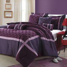 Purple, Plum and Lavender Comforter Set - Purple Bedroom Ideas