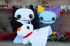 The Nightmare Before Christmas Ninni doll Set! Jack, Sally and Zero