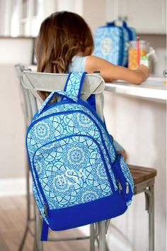 Personalized Girl s School Backpack w  Padded Laptop Compartment 2584cdb4f043c