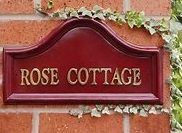 House Name Signs, House Names, Rose Cottage, Cottage Homes, Floral Fabric, Traditional, Home Decor, Plate