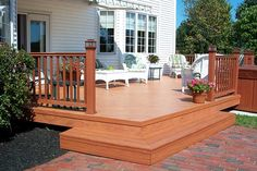corner stairs for a low deck