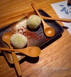 Mochi relleno de helado de té verde