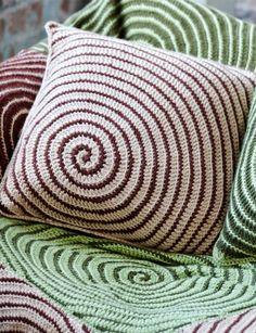Crochet Afghan and Pillow Vortex Crochet Afghan and Pillow. pattern More Patterns Like This!Vortex Crochet Afghan and Pillow. pattern More Patterns Like This! Crochet Afghans, Crochet Pillows, Crochet Diy, Crochet Home, Love Crochet, Crochet Crafts, Crochet Projects, Spiral Crochet, Crochet Blankets