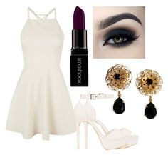 """Sem título #14"" by milenasilvaj on Polyvore featuring moda, Topshop, Nly Shoes, Smashbox e Dolce&Gabbana"