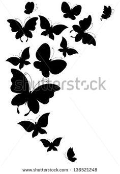 Mariposas Vectores en stock y Arte vectorial Butterfly Images, Butterfly Art, Butterfly Design, Butterfly Stencil, Stencils, Stencil Art, Bird Stencil, Stencil Patterns, Stencil Designs