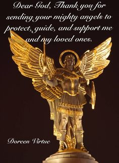 Trust in the power of God and prayer, and don't allow fear to lessen your faith or disrupt your inner peace. Angel Guide, Angel Quotes, Bible Quotes, Angel Prayers, I Believe In Angels, Doreen Virtue, Angels In Heaven, Heavenly Angels, Angel Numbers