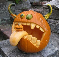 Scary pumpkin carving patterns ideas