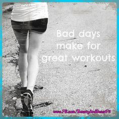 This is a fact!  Not only will you get to take all your frustrations out on your workout... you will feel soooo much better afterwards!  What workout did you do today? Lets connect on Facebook www.FB.com/BeautyAndBeastFit