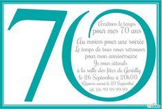 Invitation Anniversaire 70 Ans à Personnaliser En Ligne Et à