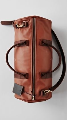 Brown Leather Boxing Duffle