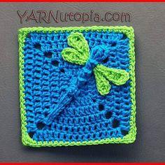 Dragon fly granny square