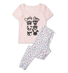 Pyjama dans blanc / rose