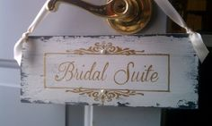 Wedding Sign Gold & Pearls Bridal Suite Sign by HickoryandLace