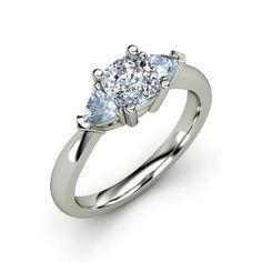 The Tahlia Ring #customizable #jewelry #diamond #aquamarine #gold #ring