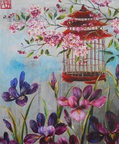 Sophie ADDE Art Floral, Floral Prints, Sweetest Devotion, Floral Print Background, Art Themes, Flower Pictures, Botanical Art, Bird Art, Chinoiserie