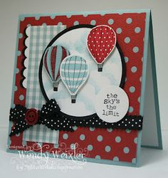 """Up, Up & Away stamp set. to initially cut the balloons, use 1 3/8"""" circle punch."""