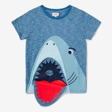 Shark Zip Tee DUSTY BLUE