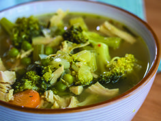 Chicken and Broccoli Detox Soup