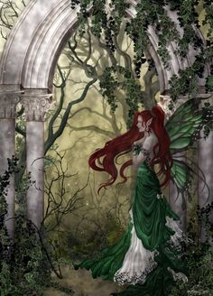 Celtic Faerie...#fantasy #fairy #faerie #garden #green #art