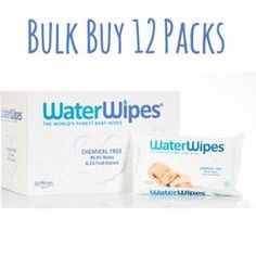 Bulk buy box of Water Wipes natural baby wipes