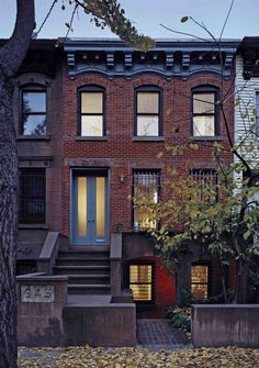 Prospect Heights Row House - Transitional - Exterior - new york - by Delson or Sherman Architects pc Exterior Design, Interior And Exterior, Prospect Heights, Transitional House, Transitional Lighting, Transitional Bedroom, City Living, Dog Houses, Curb Appeal