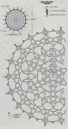 New crochet mandala pattern charts Ideas Motif Mandala Crochet, Crochet Circles, Crochet Doily Patterns, Crochet Chart, Crochet Dollies, Crochet Diagram, Thread Crochet, Love Crochet, Irish Crochet
