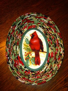 Unique idea for the basket base, Christmas clothesline fabric bowl.