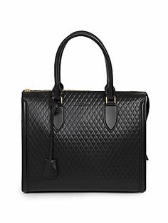 Best bags for Fall 2013 - Alexander McQueen Pyramid Quilted Leather Tote #alexandermcqueen