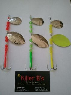 Killer B's Salmon Spinners!  kbspinners@yahoo.com for more info!