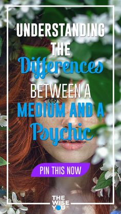 Understanding the Differences Between a Medium and a Psychic Self Development, Personal Development, Greek Words, Psychic Abilities, Listening To You, Spiritual Growth, Different, Intuition, Law Of Attraction