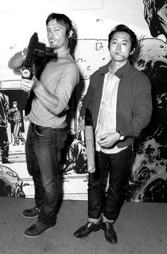 My favorites: Norman Reedus and Steven Yeun.