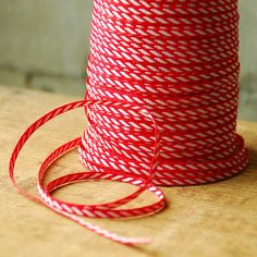 Cyber Monday Sale - Red and White Candy Cane Stripe Ribbon Trim Gift Wrapping for Holiday. $0.75, via Etsy.