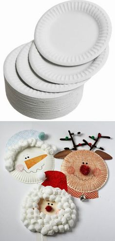 Paper Plate Christmas Charackters