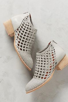 Check out this must-have Jeffrey Campbell Basket Weave Booties we just cannot resist!